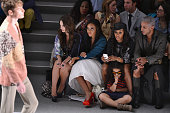 Alexa Ray Joel Angela Simmons June Ambrose and Jay Manuel attend the Custo Barcelona Spring 2013 fashion show during MercedesBenz Fashion Week at The...