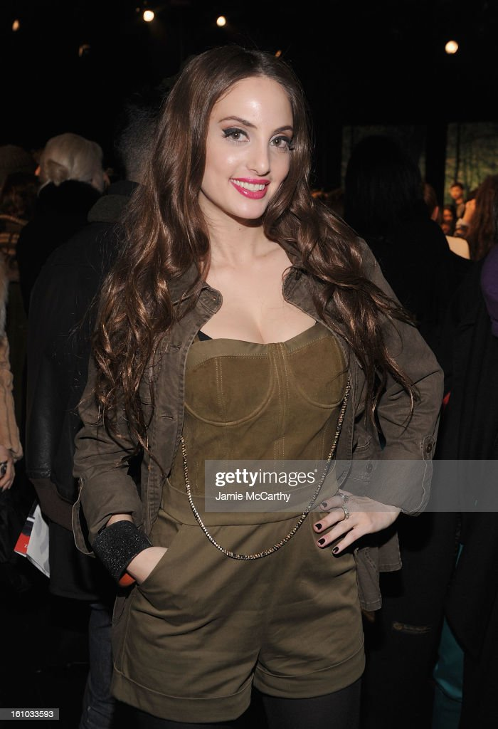 Alexa Ray Joel attends the Charlotte Ronson Fall 2013 Mercedes-Benz Fashion Week Presentation at the Box at Lincoln Center on February 8, 2013 in New York City.