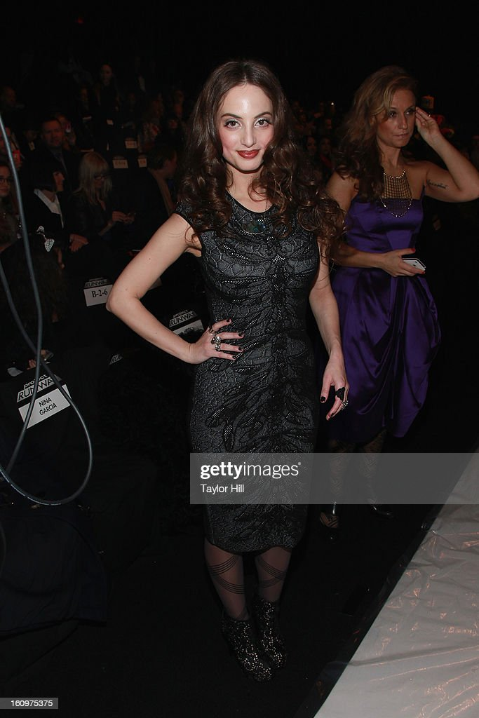 Alexa Ray Joel attends the Project Runway Fall 2013 Mercedes-Benz Fashion Show at The Theater at Lincoln Center on February 8, 2013 in New York City.