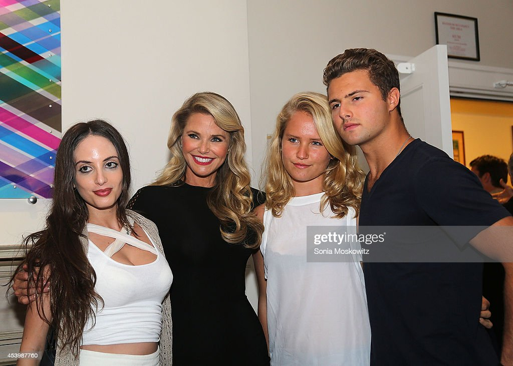 Alexa Ray Joel Christie Brinkley Sailor Brinkley Cook and Jack Taubman attend the Celebrity Autobiography PhotoOp at Guild Hall on August 22 2014 in...