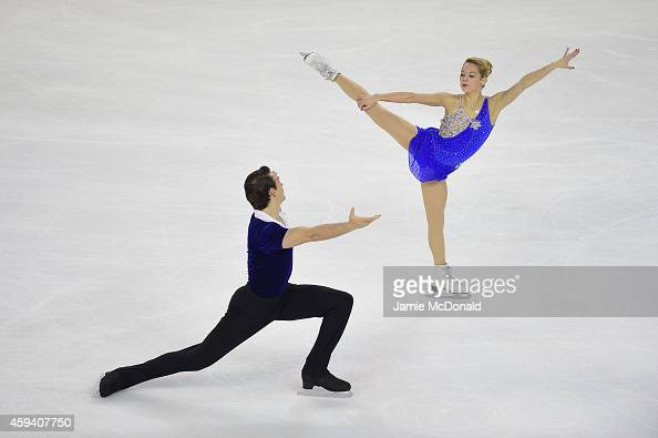 Alexa Scimea and Chris Knierim of USA perform their Pairs Free program during day two of Trophee Eric Bompard ISU Grand Prix of Figure Skating at the...