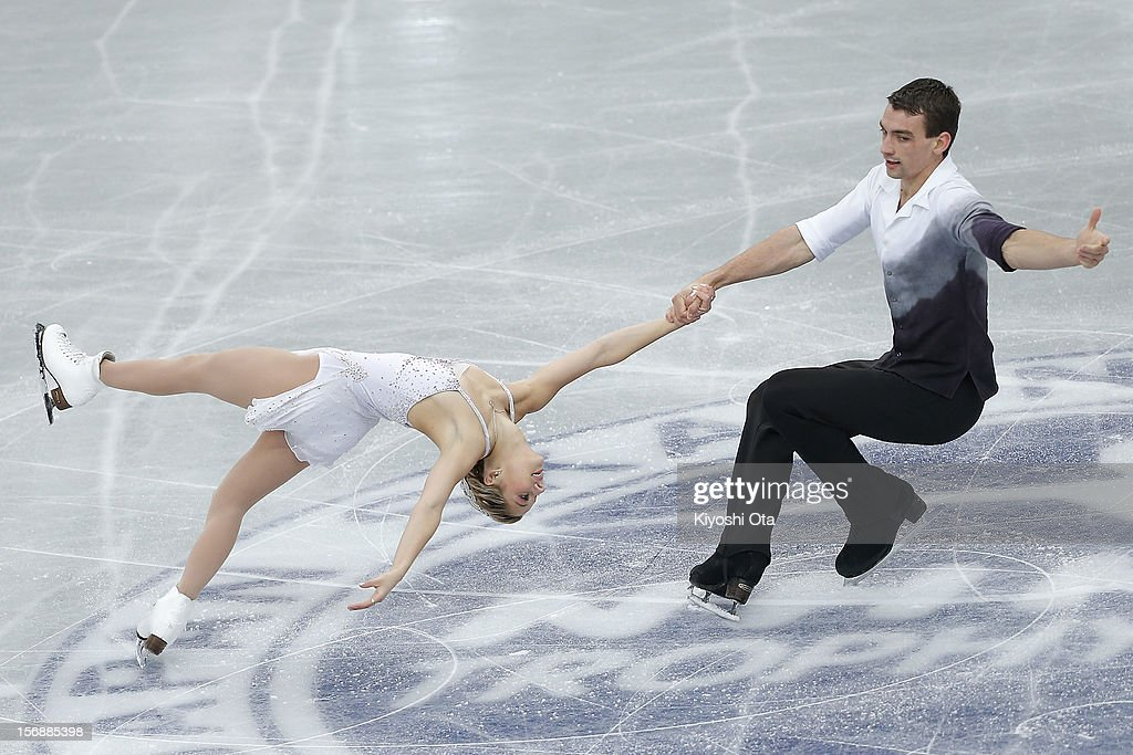 Alexa Scimeca and Chris Knierim of the United States compete in the Pairs Short Program during day two of the ISU Grand Prix of Figure Skating NHK Trophy at Sekisui Heim Super Arena on November 24, 2012 in Rifu, Japan.