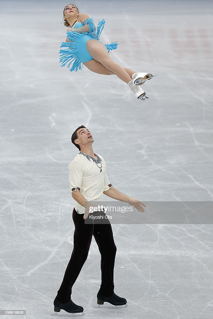 Alexa Scimeca and Chris Knierim of the United States compete in the Pairs Free Skating during day three of the ISU Grand Prix of Figure Skating NHK Trophy at Sekisui Heim Super Arena on November 25, 2012 in Rifu, Japan.
