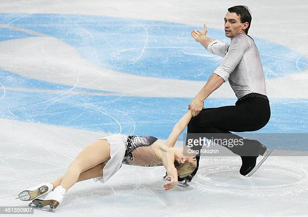 Alexa Scimeca and Chris Knierim of USA skates in the Pairs Short Program during ISU Rostelecom Cup of Figure Skating 2013 on November 22 2013 in...