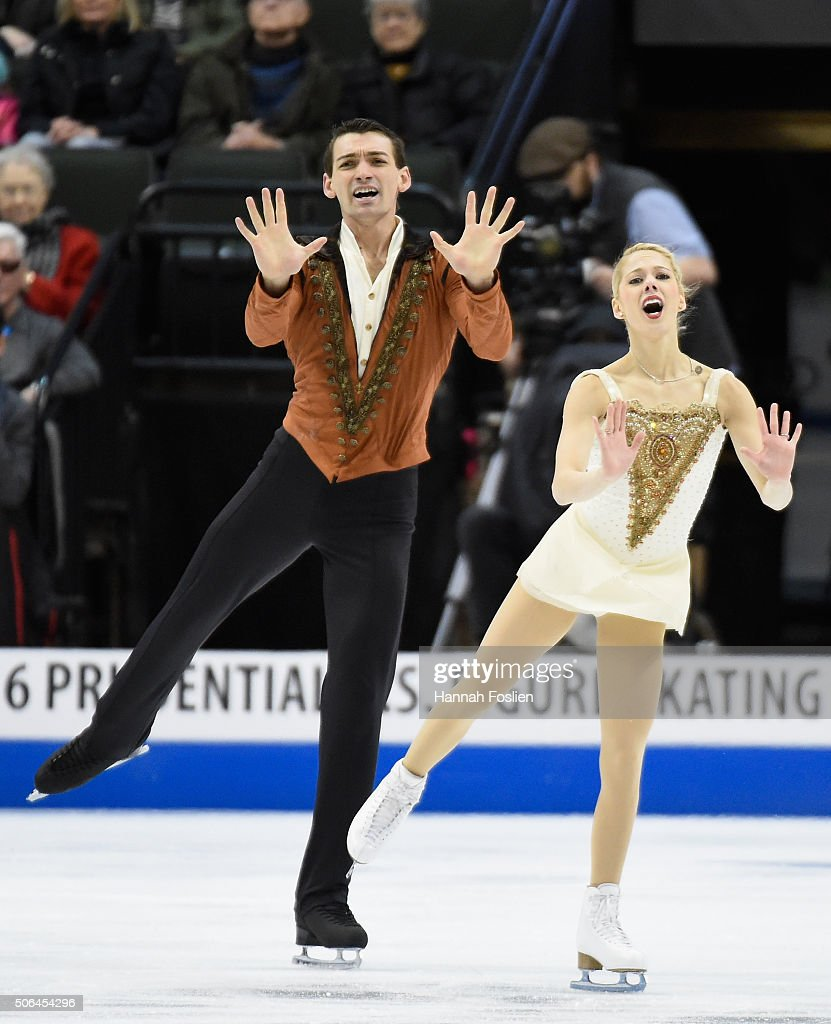 <a gi-track='captionPersonalityLinkClicked' href=/galleries/search?phrase=Alexa+Scimeca&family=editorial&specificpeople=8758977 ng-click='$event.stopPropagation()'>Alexa Scimeca</a> and Christopher Knierim compete in the Pairs' Free Skate at the 2016 Prudential U.S. Figure Skating Championship on January 23, 2016 at Xcel Energy Center in St Paul, Minnesota.
