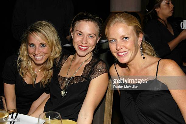 Alexa Susser Monica Byrne and Lara Martinez attend Tracy Paul Company Celebrates Fall Fashion at Buddakan on September 19 2006 in New York City