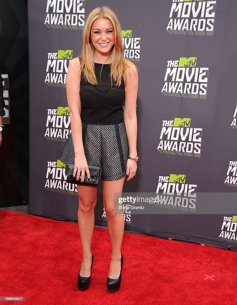 Alexa Vega arrives at the 2013 MTV Movie Awards at Sony Pictures Studios on April 14, 2013 in Culver City, California.