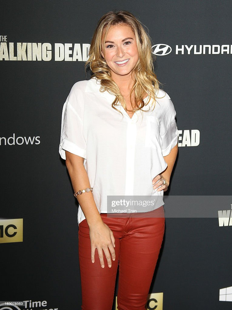 Alexa Vega arrives at the Los Angeles premiere of AMC's 'The Walking Dead' 4th season held at Universal CityWalk on October 3 2013 in Universal City...