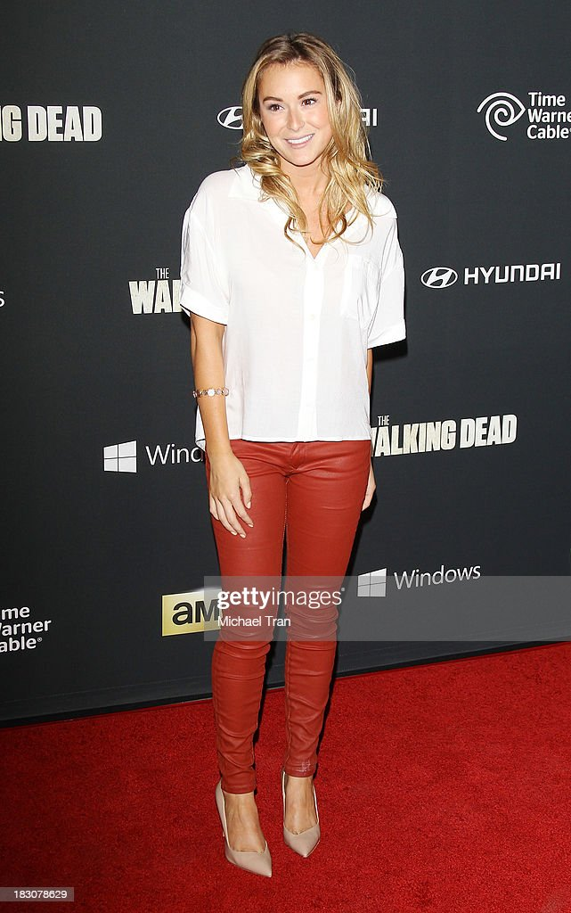 Alexa Vega arrives at the Los Angeles premiere of AMC's 'The Walking Dead' 4th season held at Universal CityWalk on October 3, 2013 in Universal City, California.