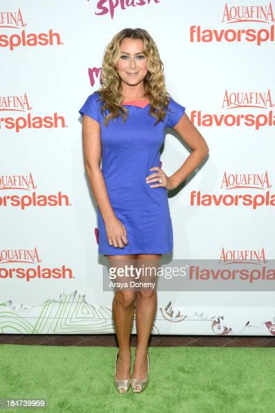 Alexa Vega attends the Aquafina FlavorSplash Launch Party With Austin Mahone Nick Cannon at Sony Pictures Studios on October 15 2013 in Culver City...