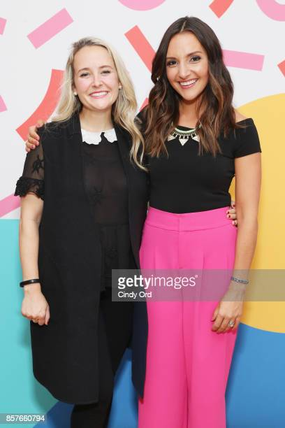 Alexa Von Tobel and Brit Morin attend Brit Co Kicks Off Experiential PopUp #CreateGood with Allison Williams and Daphne Oz at Brit Co on October 4...
