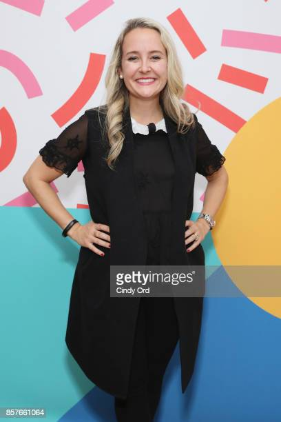 Alexa Von Tobel attends Brit Co Kicks Off Experiential PopUp #CreateGood with Allison Williams and Daphne Oz at Brit Co on October 4 2017 in New York...