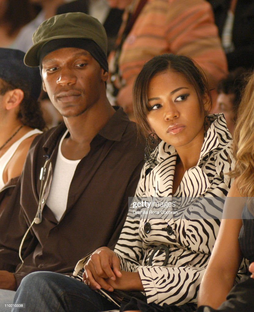 Alexander Allen and Amerie during Olympus Fashion Week Spring 2005 - Nanette Lepore - Front Row and Backstage at Plaza Tent, Bryant Park in New York City, New York, United States.