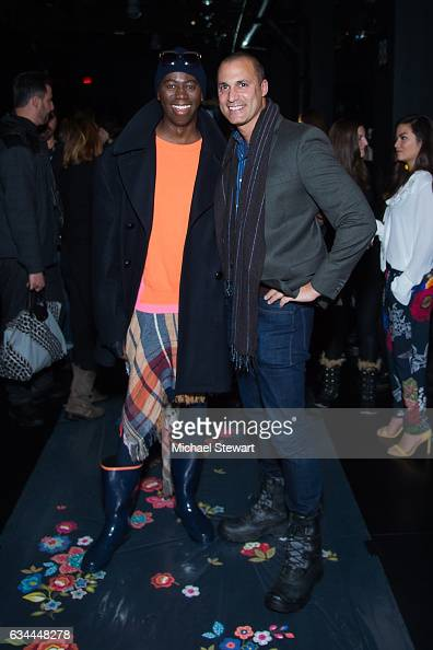 J Alexander and Nigel Barker attend the Desigual show during February 2017 New York Fashion Week The Shows at Gallery 1 Skylight Clarkson Sq on...