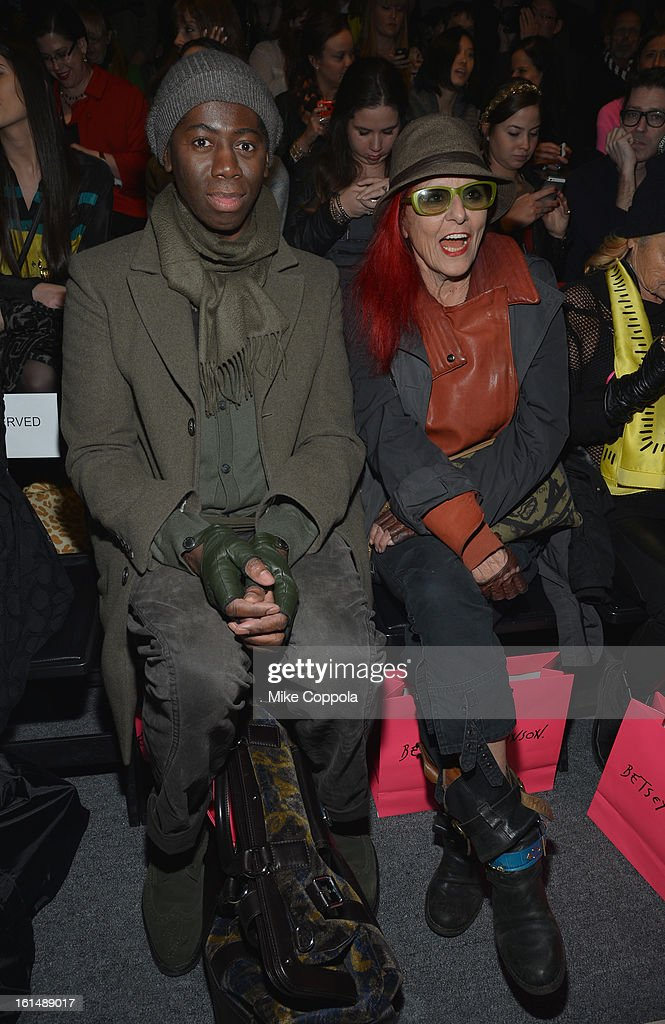 <a gi-track='captionPersonalityLinkClicked' href=/galleries/search?phrase=J.+Alexander&family=editorial&specificpeople=698504 ng-click='$event.stopPropagation()'>J. Alexander</a>, and Patricia Field attend the Betsey Johnson Fall 2013 fashion show during Mercedes-Benz Fashion Week at The Studio at Lincoln Center on February 11, 2013 in New York City.