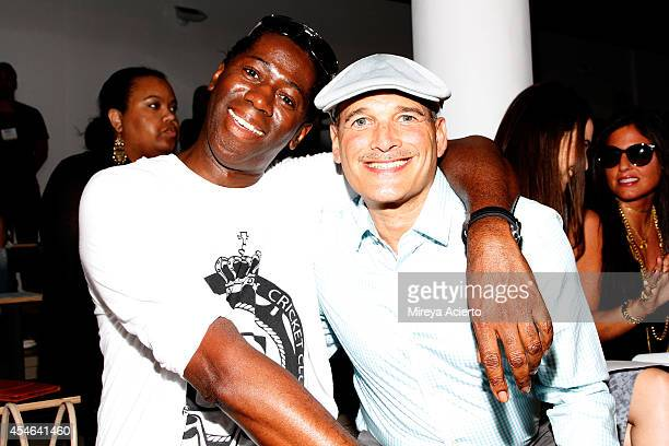 J Alexander and Phillip Bloch attend the Costello Tagliapietra fashion show during MercedesBenz Fashion Week Spring 2015 at Milk Studios on September...
