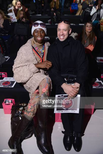 J Alexander and Robert Verdi attend the Betsey Johnson fashion show during MercedesBenz Fashion Week Fall 2014 at The Salon at Lincoln Center on...