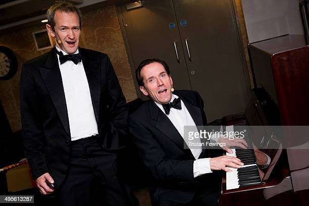 Alexander Armstrong and Ben Miller backstage at the Symfunny fundraiser in aid of Parkinson's UK at Royal Albert Hall on June 4 2014 in London England