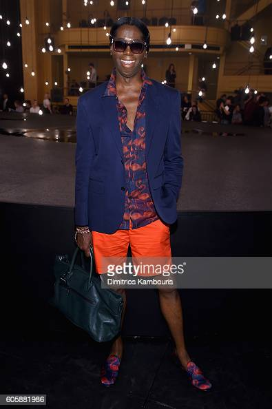 J Alexander attends the Marc Jacobs Spring 2017 fashion show front row during New York Fashion Week at the Hammerstein Ballroom on September 15 2016...