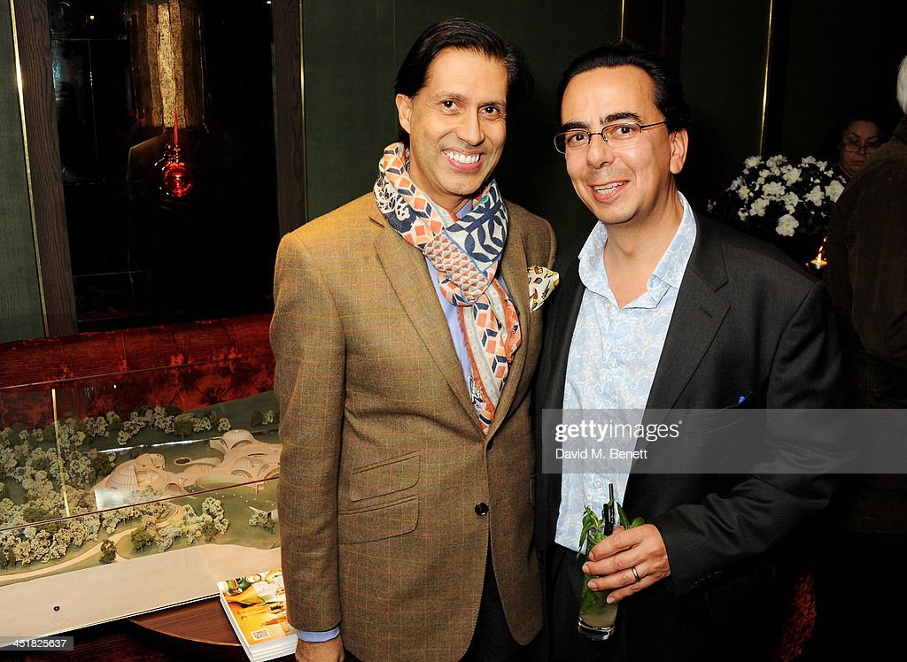 Alexander Barani (L) and Rupert Rohan attend an after party celebrating the UK Premiere of 'Day Of The Flowers' at The Mayfair Hotel on November 24, 2013 in London, England.