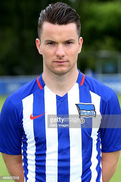 Alexander Baumjohann poses during the Hertha BSC team presentation on July 10 2015 in Berlin Germany