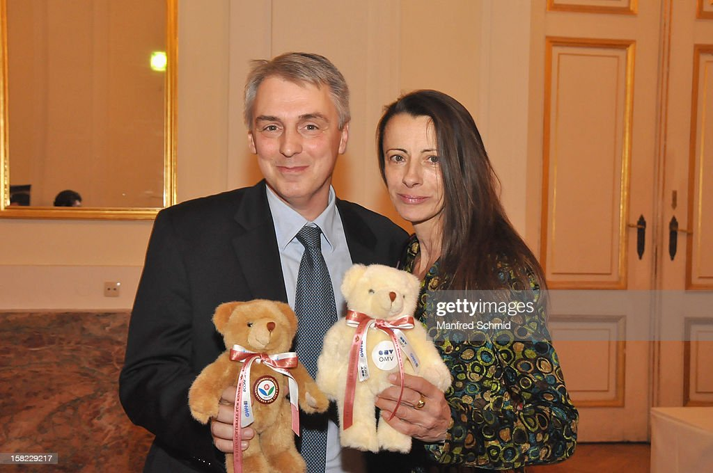 Alexander Betanishvili and Brigitte Just attend the Christmas ball for children Energy For Life - Heat For Children's Hearts at Hofburg Vienna on December 11, 2012 in Vienna, Austria.