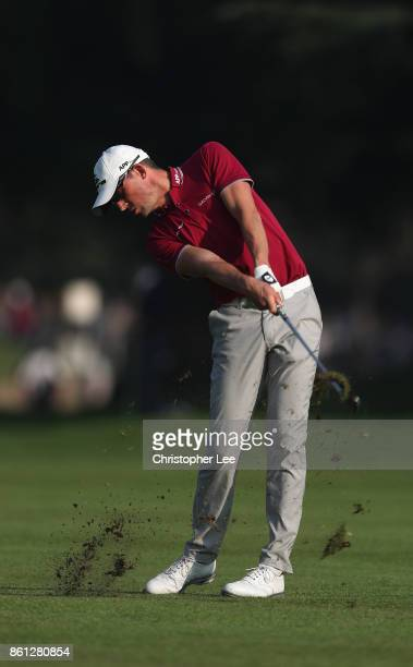 Alexander Bjork of Sweden in action during Day Three of The Italian Open at Golf Club Milano Parco Reale di Monza on October 14 2017 in Monza Italy
