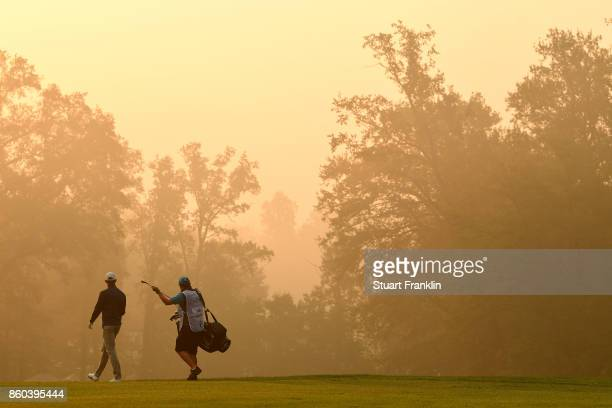 Alexander Bjork of Sweden on Day One of the Italian Open at Golf Club Milano Parco Reale di Monza on October 12 2017 in Monza Italy