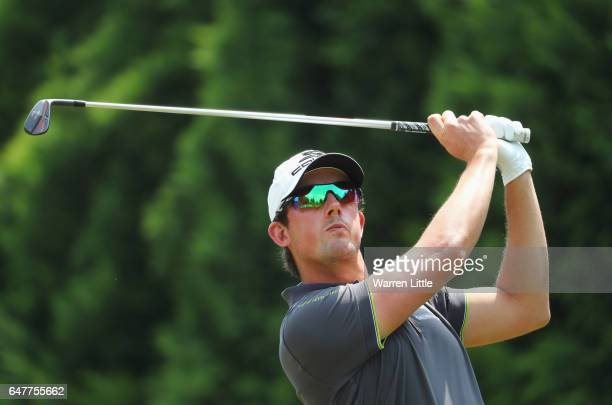 Alexander Bjork of Sweden tees off on the 5th hole during day three of the Tshwane Open at Pretoria Country Club on March 4 2017 in Pretoria South...