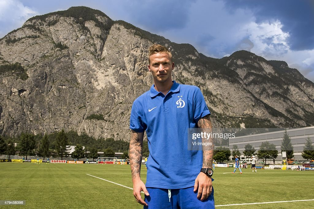 Alexander Buttner of Dinamo Moscow during the friendly match between Ajax Amsterdam and Dynamo Moscow on July 4, 2015 at Neustift im Stubaital, Austria.
