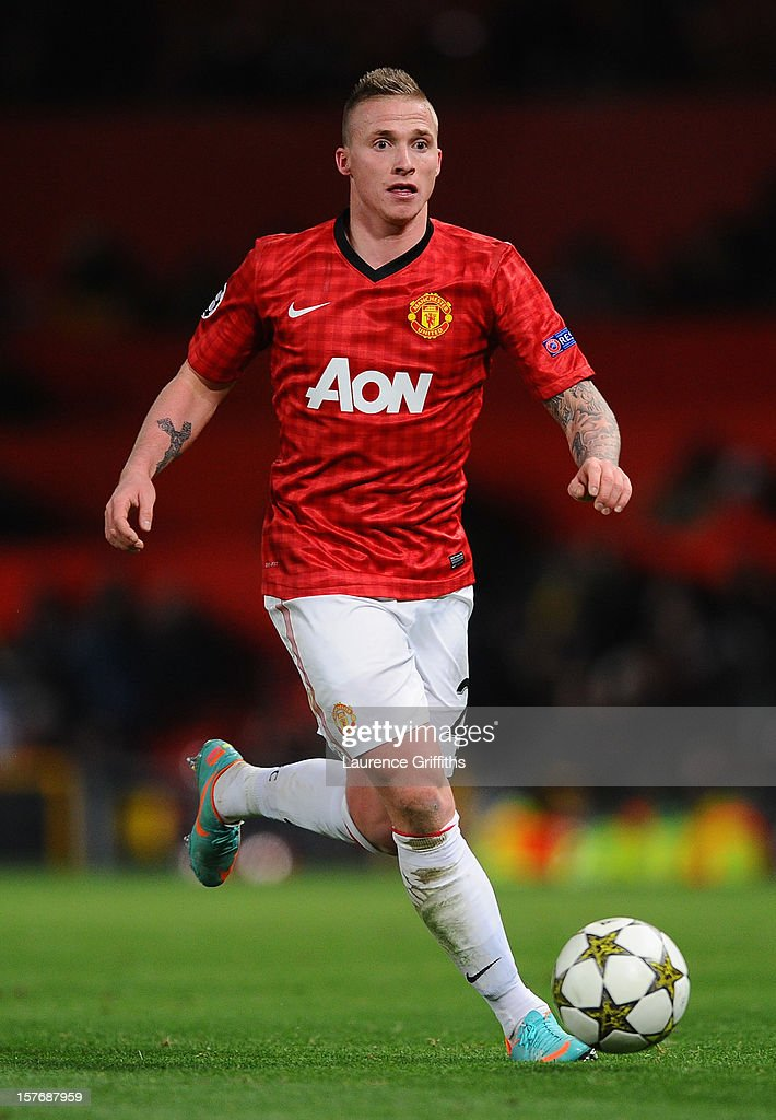 Alexander Buttner of Manchester United in action during the UEFA Champions League Group H match between Manchester United and CFR 1907 Cluj at Old Trafford on December 5, 2012 in Manchester, England.