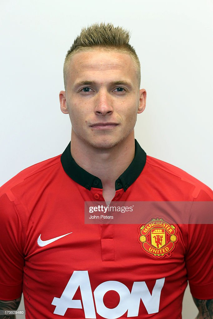 Alexander Buttner of Manchester United poses during a portrait session at the team hotel on July 16, 2013 in Sydney, Australia.