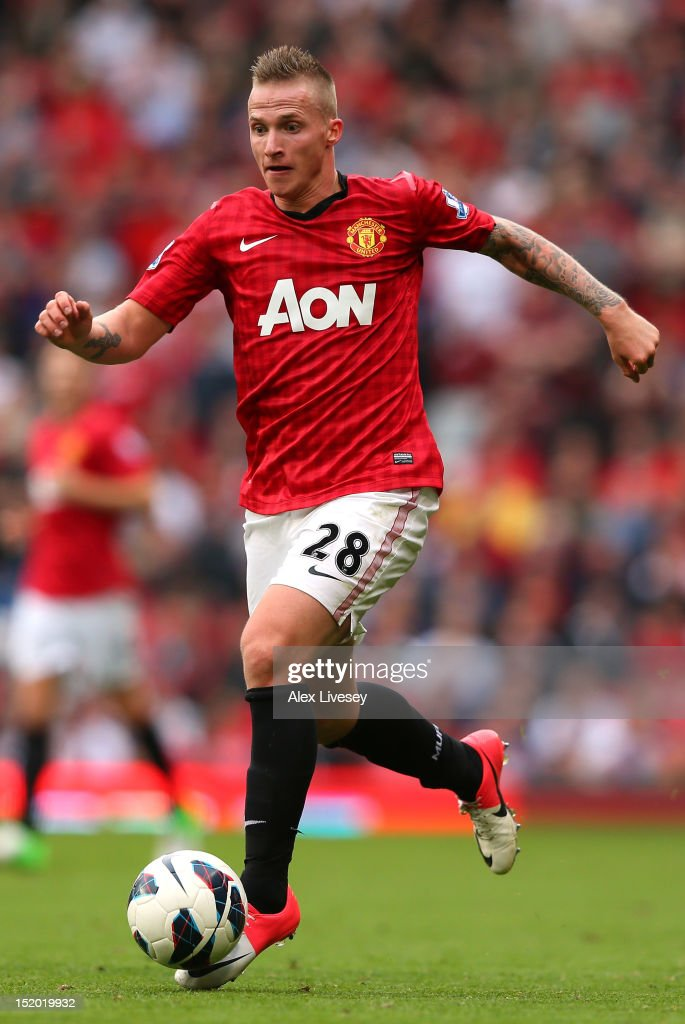 Alexander Buttner of Manchester United runs with the ball during the Barclays Premier League match between Manchester United and Wigan Athletic at Old Trafford on September 15, 2012 in Manchester, England.