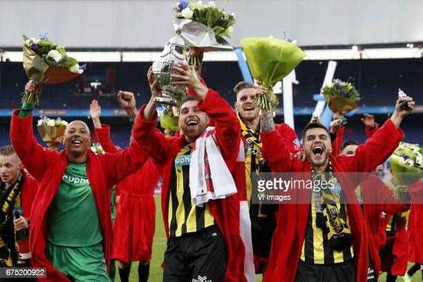 Alexander Buttner of Vitesse goalkeeper Elroy Room of Vitesse Guram Kashia of Vitesse Maikel van der Werff of Vitesse Nathan de Souza of Vitesse...
