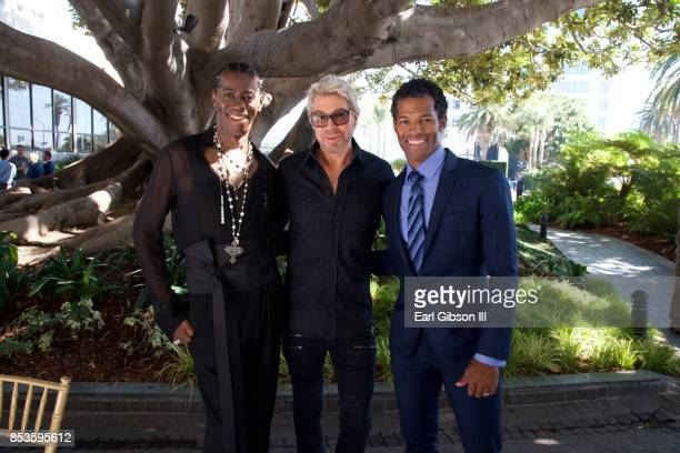 J Alexander Chaz Dean and Benjamin Patterson attend Breaking The Silence Awards on September 24 2017 in Santa Monica California