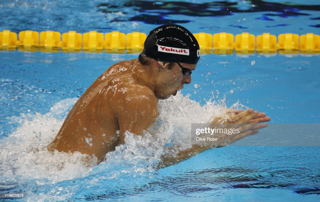 <a gi-track='captionPersonalityLinkClicked' href=/galleries/search?phrase=Alexander+Dale+Oen&family=editorial&specificpeople=2090176 ng-click='$event.stopPropagation()'>Alexander Dale Oen</a> of Norway swims his way to a gold medal in the Men's 100m Breaststroke final during Day Ten of the 14th FINA World Championships at the Oriental Sports Center on July 25, 2011 in Shanghai, China.