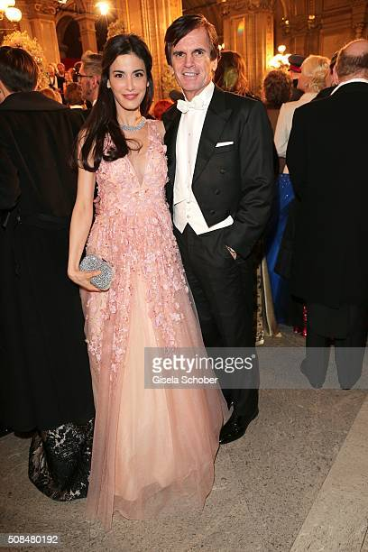 Alexander Dibelius and his wife Laila Maria Witt Dibelius during the Opera Ball Vienna 2016 at Vienna State Opera on February 4 2016 in Vienna Austria