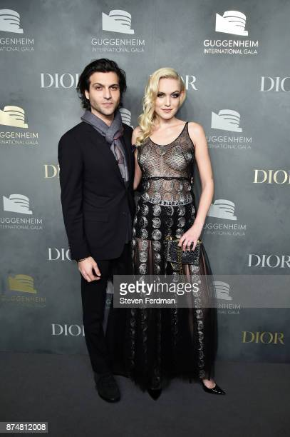 Alexander Dipersia and Carlotta Kohl attend the 2017 Guggenheim International Gala PreParty made possible by Dior on November 15 2017 in New York City