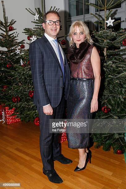 Alexander Dobrindt and Claudia GuggerBessinger attend the christmas charity gala hosted by the Passauer Runde on December 04 2015 in Passau Germany