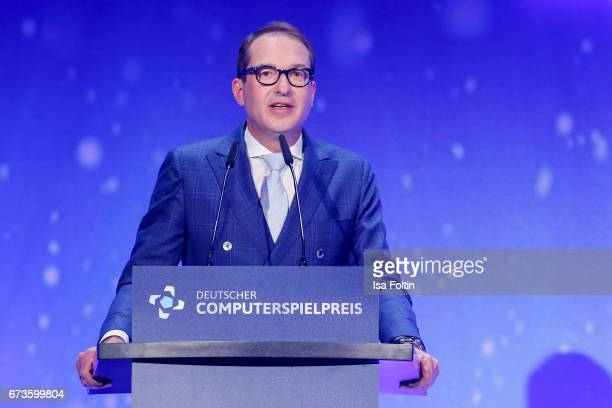 Alexander Dobrindt during the German Computer Games Award 2017 at WECC on April 26 2017 in Berlin Germany