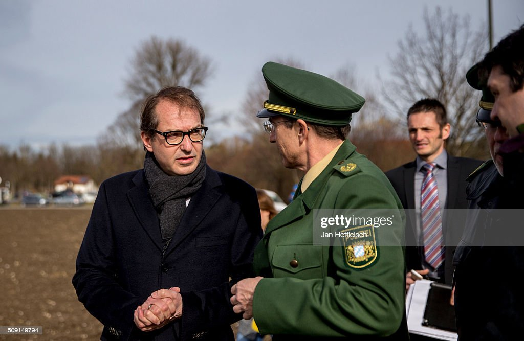 <a gi-track='captionPersonalityLinkClicked' href=/galleries/search?phrase=Alexander+Dobrindt&family=editorial&specificpeople=5702301 ng-click='$event.stopPropagation()'>Alexander Dobrindt</a>, German Minister of Transport, arrives at the site where two trains collided head-on several hours before in Bavaria on February 9, 2016 near Bad Aibling, Germany. Authorities say at least nine people are dead and over 100 injured in the collision between two trains of the Meridian local commuter train service that occurred at approximately 7 am.