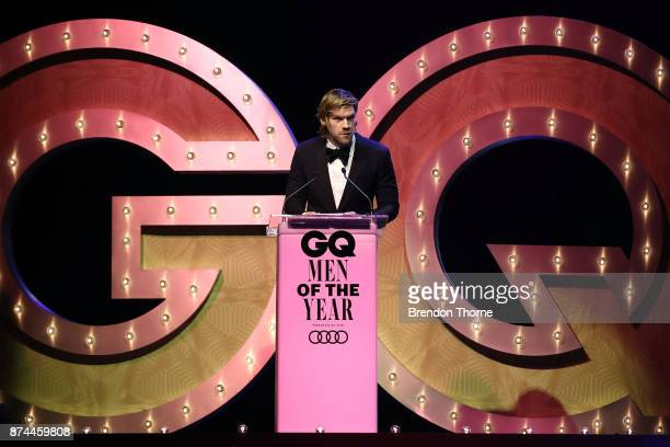 Alexander England presents the award for Director of the Year during the GQ Men Of The Year Awards Ceremony at The Star on November 15 2017 in Sydney...