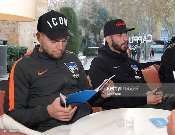 Alexander Esswein and Marvin Plattenhardt of Hertha BSC during the training camp on January 13 2017 in Palma de Mallorca Spain