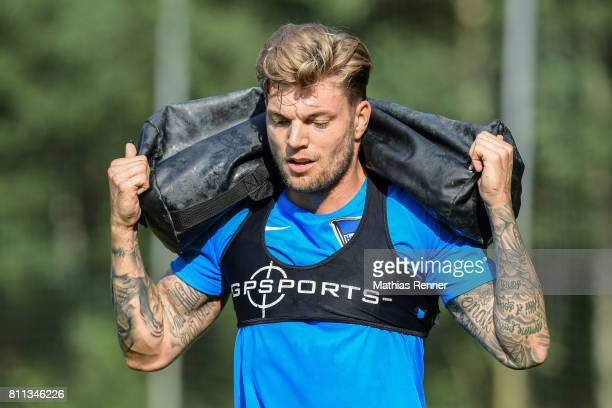 Alexander Esswein during the second day of the training camp of Hertha BSC on july 8 2017 in Bad Saarow Germany
