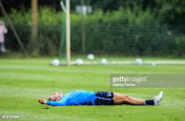 Alexander Esswein during the sixth day of the training camp of Hertha BSC on july 13 2017 in Bad Saarow Germany
