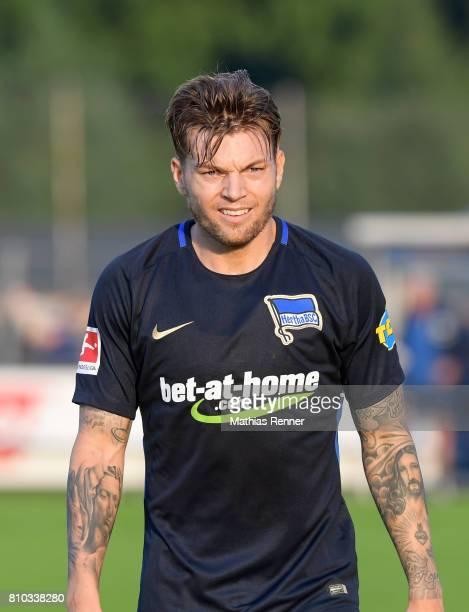Alexander Esswein of Hertha BSC after the test match between Oranienburger FC Eintracht and Hertha BSC on july 7 2017 in Oranienburg Germany