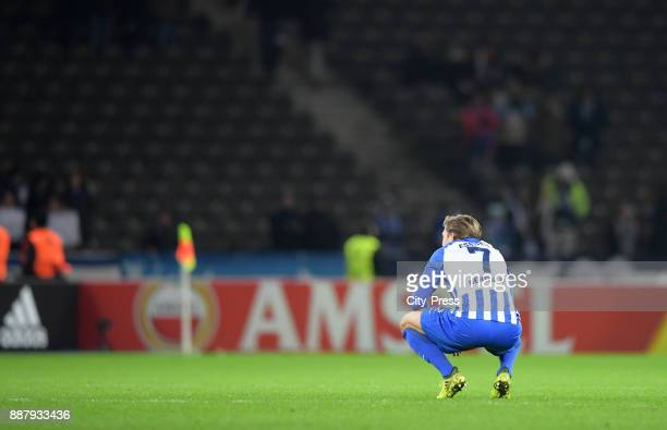Alexander Esswein of Hertha BSC after the UEFA Europa League Group J match between Hertha BSC and Oestersunds FK on December 7 2017 in Berlin Germany