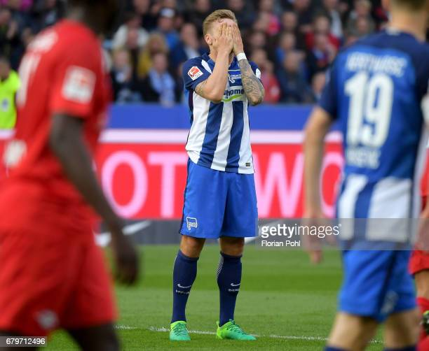 Alexander Esswein of Hertha BSC during the game between Hertha BSC and RB Leipzig on may 6 2017 in Berlin Germany