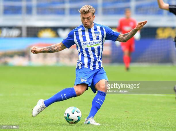 Alexander Esswein of Hertha BSC during the game between Malaga CF and Hertha BSC on july 22 2017 in Duisburg Germany
