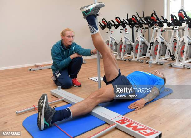 Alexander Esswein of Hertha BSC during the performance diagnostics on july 4 2017 in Berlin Germany